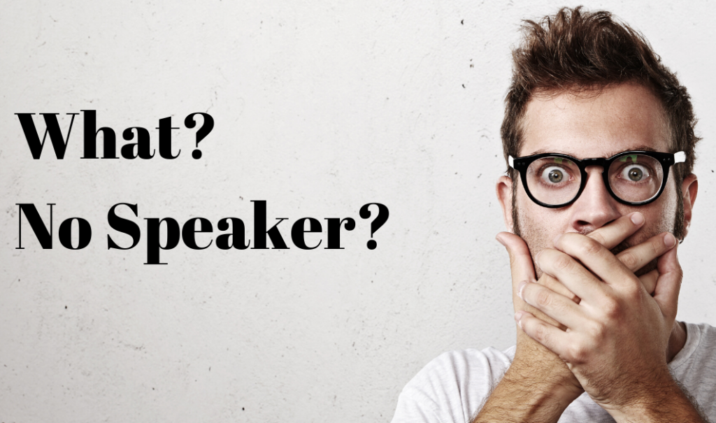 When a speaker cancels